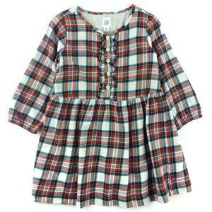 BabyGap Flannel Plaid Long Sleeve Dress